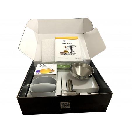 Pack Extracteur de jus horizontal Sana 707  Chrome + Accessoire Extracteur d'huile