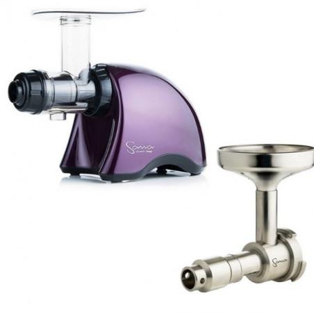 Pack Extracteur de jus horizontal Sana 707  Purple + Accessoire Extracteur d'huile