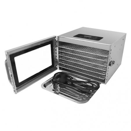 Déshydrateur alimentaire Inox 6 grilles 30/28 cm Foodvac