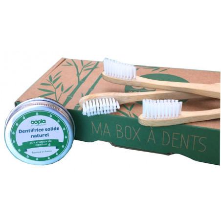 Kit Brosses à dents Bambou + Dentifrice Solide