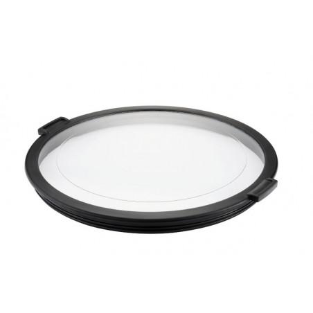 bol inox avec couvercle transparents.