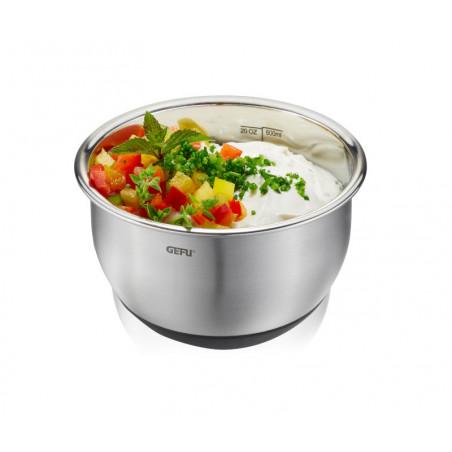 Ustensiles de cuisine - Bol inox de préparation avec couvercle.