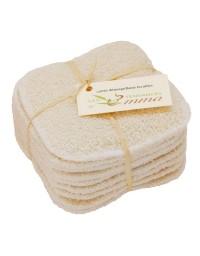 Kit 15 carrés démaquillants - biface coton bio