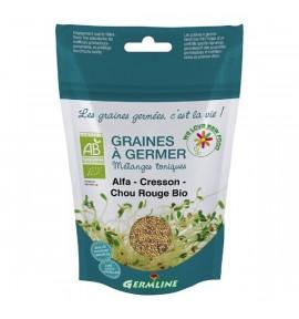 Graines germées - ALFALFA -CRESSON-CHOU ROUGE BIO 150G