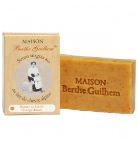 Savon beurre de karité/orange douce 100g - BERTHE GUILHEM - COSMETIQUE BIO