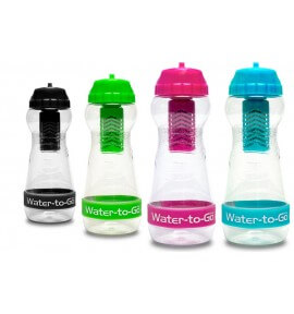 Gourde filtrante WATER TO GO City - couleur rose