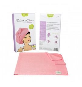 Serviettes à cheveux - couleur rose
