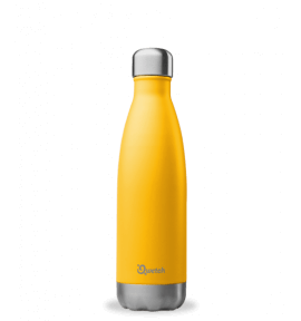 Bouteille isotherme Qwetch jaune/orange - thermos 750ml