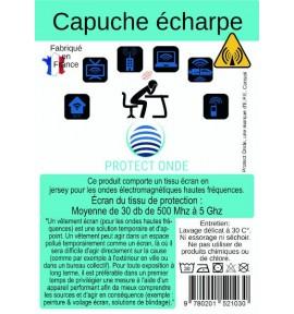 Capuche écharpe pour éléctrosensibles - E.P.E Conseil - 3 coloris Gris
