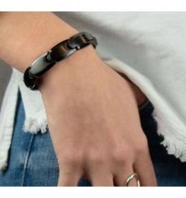 Bracelet magnétique homme Carbone - Alphapole