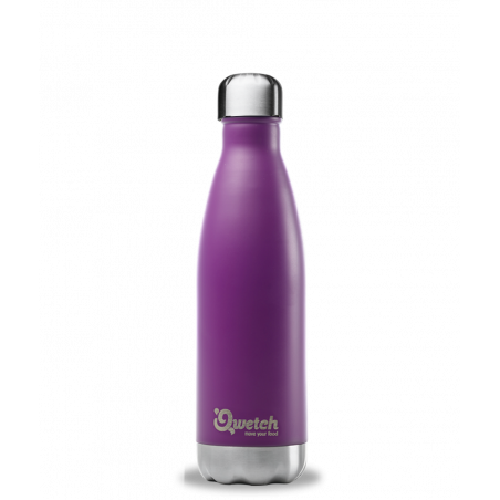 Bouteille thermos isotherme Qwetch 500ml - Pourpre