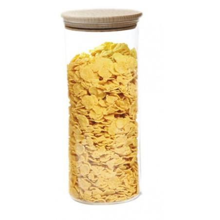 Bocaux verre à bouchon bois - 4 tailles - Ah Table - 1,4L
