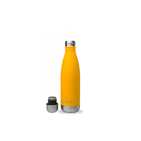 Bouteille thermos isotherme Qwetch inox orange - 500 ml