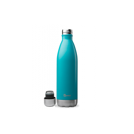 Bouteille thermos isotherme Qwetch inox bleu turquoise - 500 ml