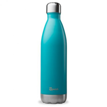 Bouteille thermos isotherme Qwetch bleue - 750 ml