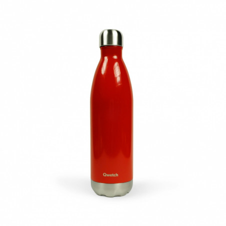 Bouteille thermos isotherme Qwetch Rouge - 750 ml