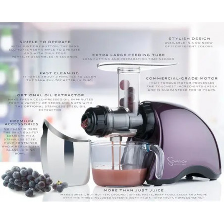 Extracteur de jus Sana 707 by Omega purple