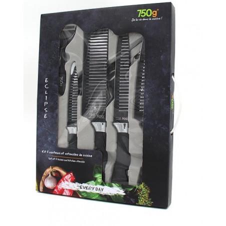 Boîte ensemble de 7 pièces pour couper et éplucher