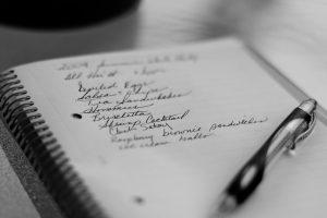 liste de courses, alimentation saine au bureau