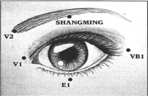 Exercices des yeux acupuncture