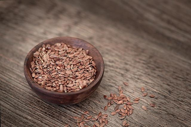 graines germées de lin, lin brun, lin doré,