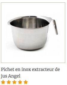 Pichet inox Angel pour extracteur de jus Angel
