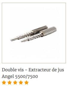 Double vis Angel pour extracteur de jus Angel
