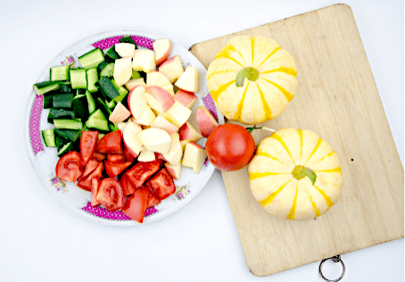 comment préparer, couper mes fruits et légumes pour l'extracteur de jus