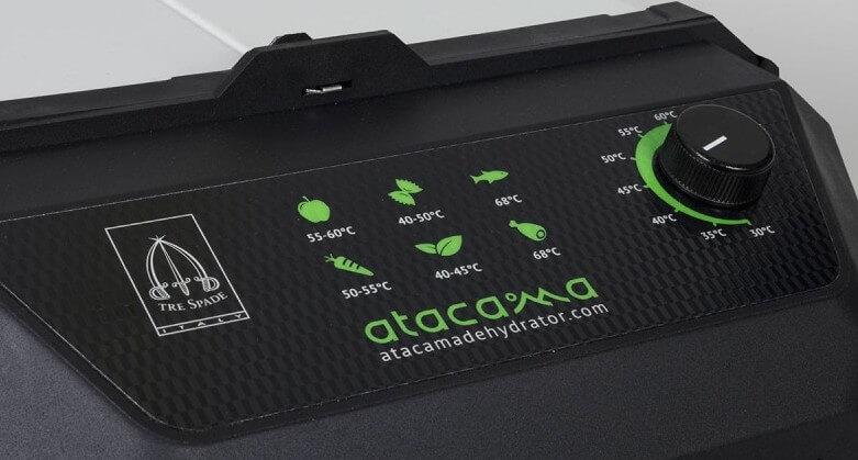 panneau de contrôle du déshydrateur Atacama Pro Deluxe