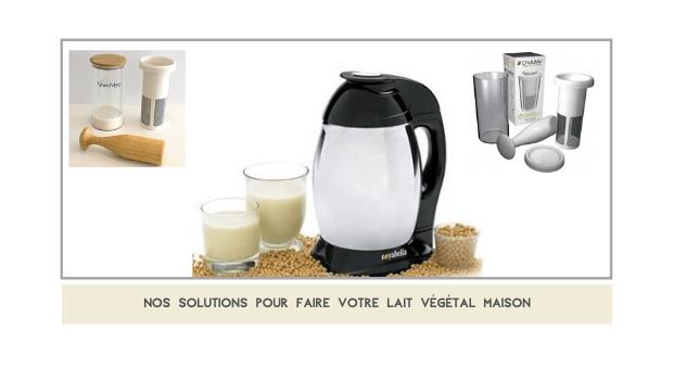 les solution pour du lait vegetal maison